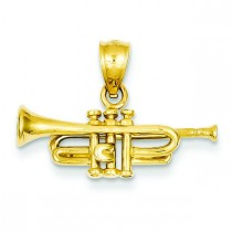 Trumpet Pendant in 14k Yellow Gold