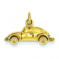Car Charm in 14k Yellow Gold