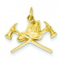 Fire Department Charm in 14k Yellow Gold