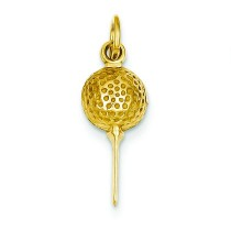 Golf Ball Charm in 14k Yellow Gold