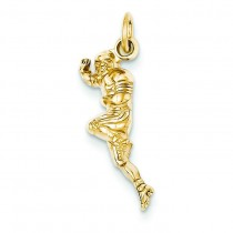 Football Player Charm in 14k Yellow Gold