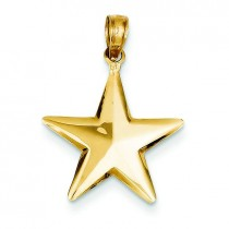 Star Pendant in 14k Yellow Gold