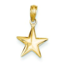 Small Star Charm in 14k Yellow Gold