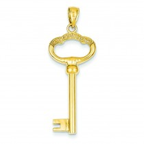 Key To My Heart Pendant in 14k Yellow Gold