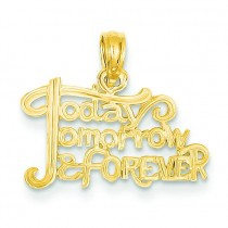 Today Tomorrow Forever Pendant in 14k Yellow Gold