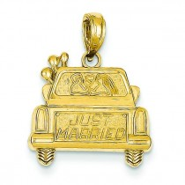 Just Married Pendant in 14k Yellow Gold