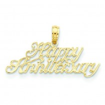 Happy Anniversary Pendant in 14k Yellow Gold