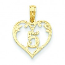 Inside Heart Pendant in 14k Yellow Gold