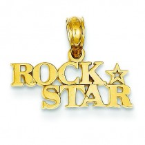 Rock Star Pendant in 14k Yellow Gold