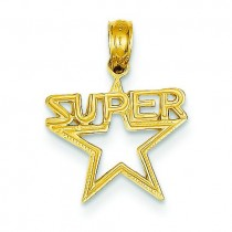 Super Star Pendant in 14k Yellow Gold