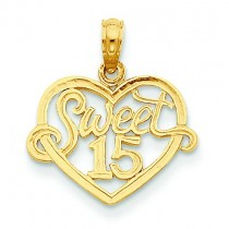 Sweet In Heart Pendant in 14k Yellow Gold