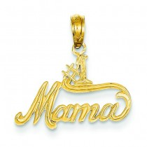 Mama Pendant in 14k Yellow Gold