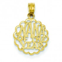 Nana Of The Year Pendant in 14k Yellow Gold