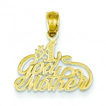 Godmother Pendant in 14k Yellow Gold