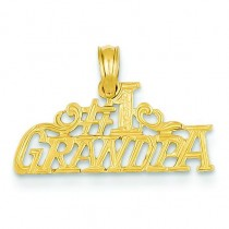 Grandpa Pendant in 14k Yellow Gold