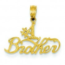 Brother Pendant in 14k Yellow Gold