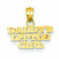 Daddy Little Girl Pendant in 14k Yellow Gold