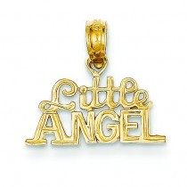 Little Angel Pendant in 14k Yellow Gold