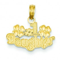 Daughter Pendant in 14k Yellow Gold