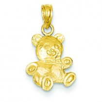 Teddy Bear Pendant in 14k Yellow Gold