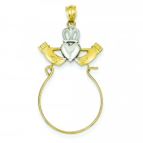 Claddagh Charm Holder in 14k Yellow Gold