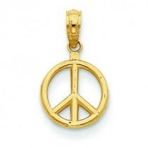 Peace Symbol Pendant in 14k Yellow Gold