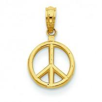 Peace Symbol Pendant in 14k Yellow Gold