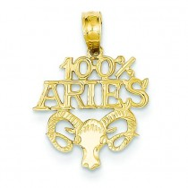 Aries Pendant in 14k Yellow Gold