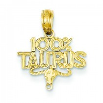 Taurus Pendant in 14k Yellow Gold