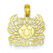 Cancer Pendant in 14k Yellow Gold