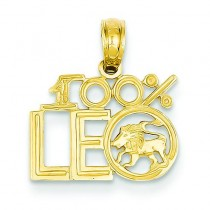 Leo Pendant in 14k Yellow Gold
