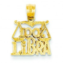 Libra Pendant in 14k Yellow Gold