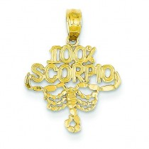 Scorpio Pendant in 14k Yellow Gold