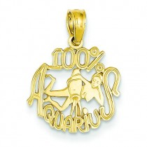Aquarius Pendant in 14k Yellow Gold