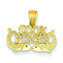 Pisces Pendant in 14k Yellow Gold