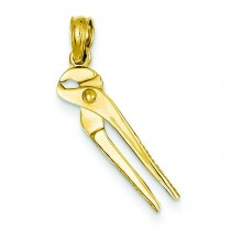Locking Wrench Pendant in 14k Yellow Gold