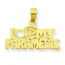 I Heart My Paramedic Pendant in 14k Yellow Gold