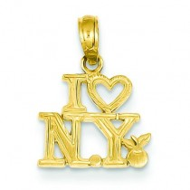 I Heart NY Pendant in 14k Yellow Gold