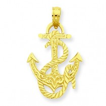 Anchor Rope Pendant in 14k Yellow Gold
