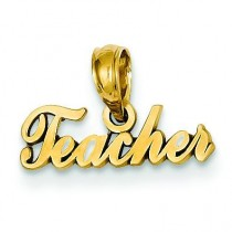 Teacher Pendant in 14k Yellow Gold