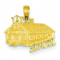 School House Pendant in 14k Yellow Gold
