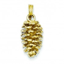 Pinecone Pendant in 14k Yellow Gold