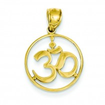 Frame Yoga Symbol Pendant in 14k Yellow Gold