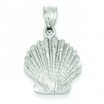Shell Charm in 14k White Gold