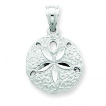Sanddollar Charm in 14k White Gold