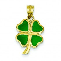 Clover Charm in 14k Yellow Gold