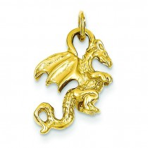 Dragon Charm in 14k Yellow Gold