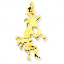 Kokopelli Charm in 14k Yellow Gold