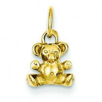 Teddy Bear Charm in 14k Yellow Gold