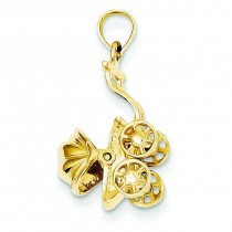 Baby Carriage Charm in 14k Yellow Gold